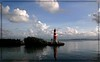 Lighthouse Marker at the entrance to Plantation Harbour Marina <br /> Florida Keys---On a summer morning