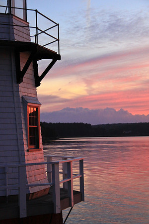Sunsets Red Glow - Doubling Light Arrowsic, Maine #7874 Established in 1898
