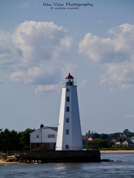 Lynde Point Lighthouse, Old Saybrook, CT along Long Island Sound.