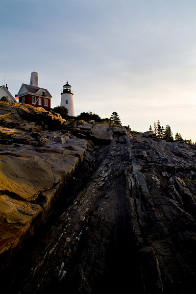 Morning breaks at Pimaquid Point Lighthouse, Maine.