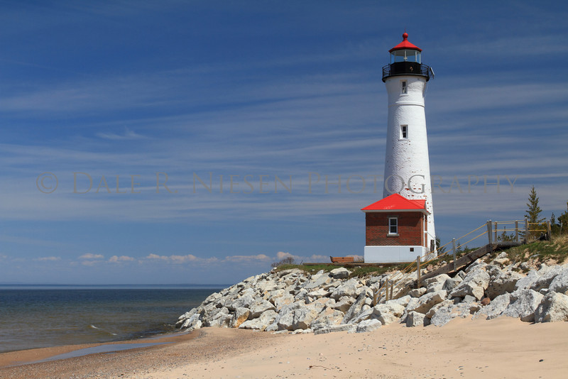 Crisp Point Lighthouse on Lake Superior north of Newberry, Michigan