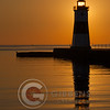 North Pier Lighthouse Sunrise Portrait