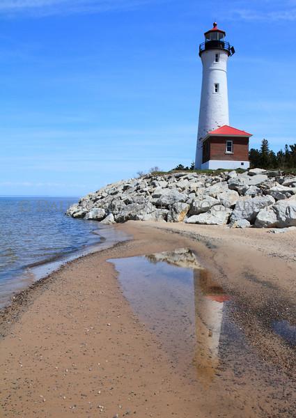 Crisp Point Lighthouse, Lake Superior north of Newberry, Michigan