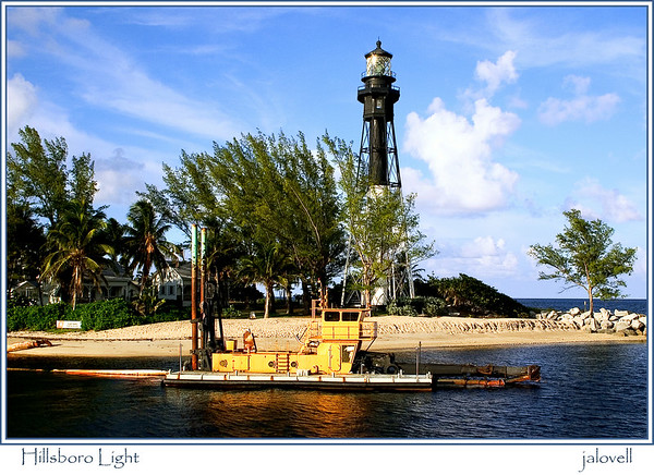 Hillsboro Light and dredge