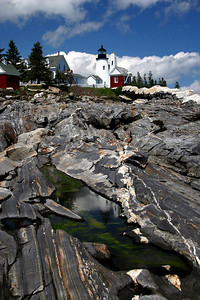 Pemaquid Point Light Built in 1835 Located in Bristol Maine #6681