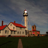 Whitefish Point Light near Paradise, Michigan (taken after dark by moon light)