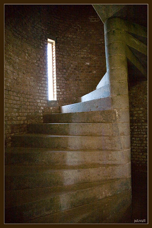Stairs up to light