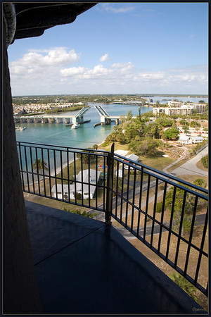 View from the top walkway of the Jupiter Light
