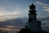 The lighthouse at Cape Disappointment, Washington, across the Columbia River from Astoria, Oregon. It marks one of the most treacherous bars in the world: There are 234 identified ships that stranded, sank, or burned between 1725 and 1961 near the mouth of the river.