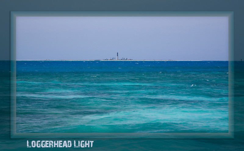 Just a distant glimpse of Loggerhead Light from the western moat wall of Ft. Jefferson.