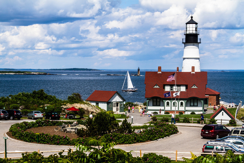 A perfect day to visit Portland Head Lighthouse in Maine.