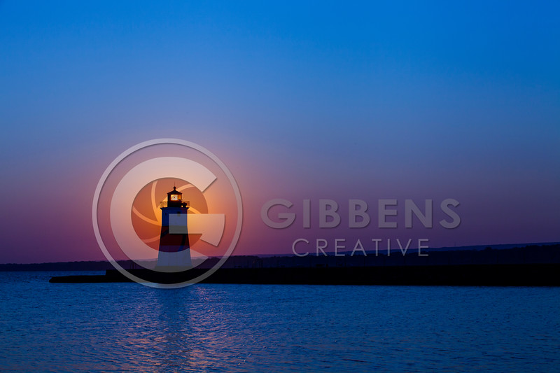 Presque Isle North Pier Lighthouse Sunrise 8/24/12 Landscape