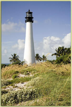 Cape Florida Light:  Key Biscayne, Florida