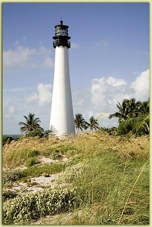 Cape Florida Light:  Key Biscayne, Florida