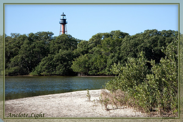 Anclote Light is located 3 miles off the coast of Tarpon Springs, FL. The picturesque 1887 lighthouse is part of Anclote Key Preserve State Park. The park hosts a variety of bird species and features a 4 mile long beach for the enjoyment of boaters who come to relax and enjoy nature.