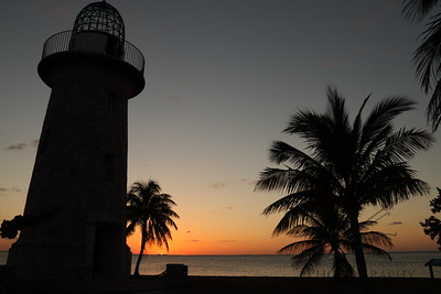 Sunset at Boca Chita Light