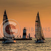 Presque Isle North Pier Light House & Boats Race to Dover
