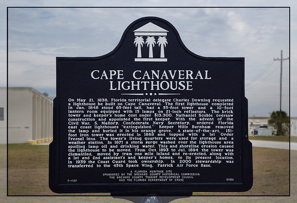 Canaveral Lighthouse Sign with Historical Information. More later..