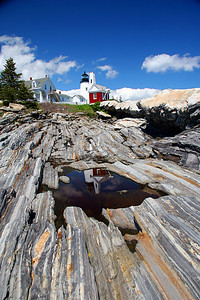 """Heavens Gate"" Pemaquid Point Light Built in 1835 Located in Bristol Maine"