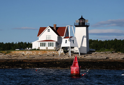 Hendricks Head Light  Built in 1875 Located on the Sheepscot River near West Southport, Maine