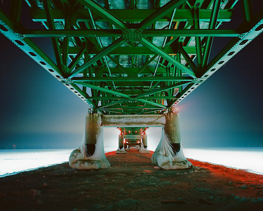 """Mackinaw Bridge  *For information on purchasing prints and canvas gallery wraps, click the """"Purchasing"""" tab at the top of the page. If viewing on your mobile device, scroll to the bottom of the page and click the """"Full Site"""" tab to view as if you were on your home PC and then go to the """"Purchase"""" tab to for purchasing info. In mobile mode, you will not see the standard navigation bar with the """"Purchase"""" tab."""