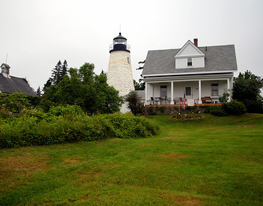 Dice Head Light Built in 1829 Located on the Penobscot River, Castine, Maine