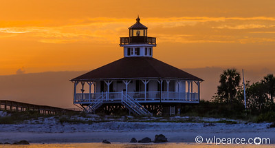 Boca Grande, Florida Lighthouse at dusk.