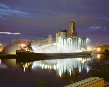 Tha Saginaw unloading grain at the Toledo Andersons Kuhlman Grain Elevators