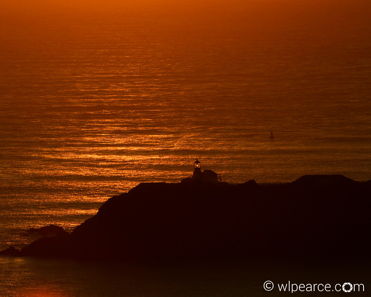 Point Bonito Lighthouse sunset.  Marin Headlands, CA