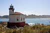 This is the Coquille River Lighthouse, just north of Bandon on the southern Oregon coast.