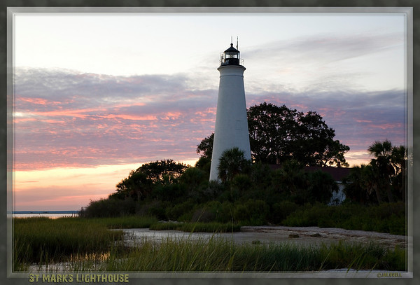 St Marks Lighthouse at sunset. A late day coastal marsh setting at the end of summer is a complex of lovely light and pesky insects. Mosquitoes were voracious but small; however, the dragonflies were huge. I was sure there would be black specs all over the images files!! :)