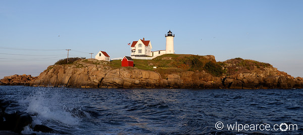 Nubble Lighthouse.  Cape Neddick, ME at dusk.