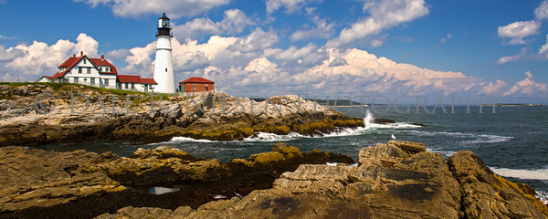 Portland Head Lighthouse, Cape Elizabeth, Maine  (Panoramic sizes 8 x 20 and 11 x 28 appear to be perfect fits for the above image without cropping.)