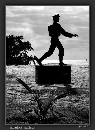 The story of the Barefoot Mailman is integral to the history of Hillsboro Light. The statue is on the grounds of the Hillsboro Light Station.