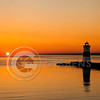 Presque Isle North Pier Light House Long Panorama