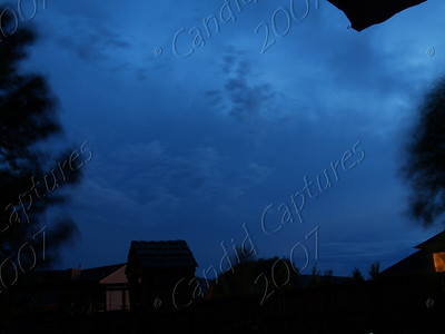 From the back yard; Storm coming in last night, July 23, 2007.