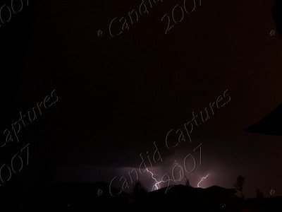 From our front yard; Small strikes just beginning.