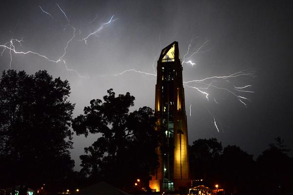 The Last Fling - 2013 - Naperville, Illinois - Moser Tower - Millennium Carillon - Lightning In The Sky