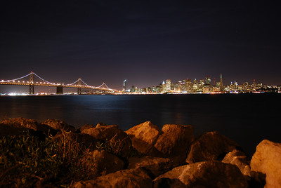San Francisco and Bay Bridge, as seen from Treasure Island  © 2007 Brian Neal