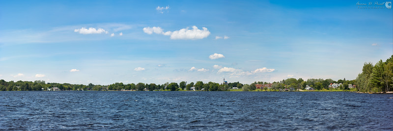 Town of Lincoln, Maine from Mattanawcook Pond