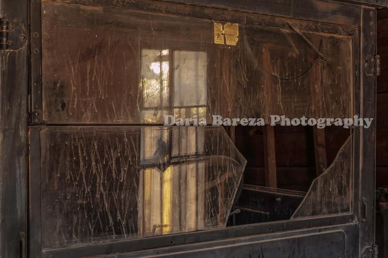 Broken Window, Mining Museum, Madrid, New Mexico