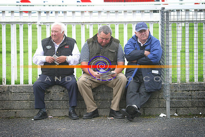 Con Lennihan, Castlemaine, Jim Lennihan Milford and John James Liscarroll taking a brether betwen races at the Festival Harvet Race meeting in Listowel. Pic Brendan Landy