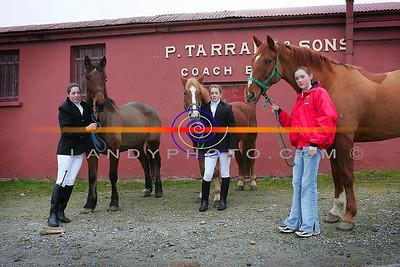 Anita Hughes , Jacinta Hughes and Linda Scanlon from Moyvane at the County Kerry Hunt in Listowel. Photo Brendan Landy