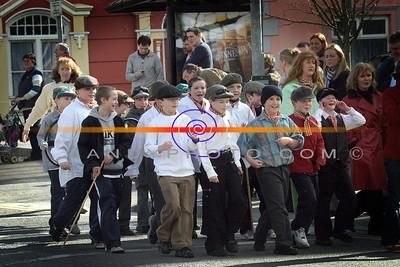 Pupils of Scoil Reltna Na Maidne  as Chitty Chitty Bang Bang at the Listowel  Parade. Photo Brendan Landy