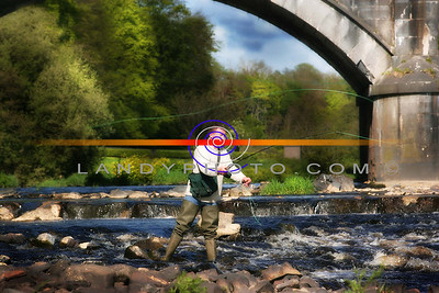 Peter Garrity  takes advantage of the the beautiful weather and the good levels of wather on the river Feale to do some fly fishing in Listowel. Photo Brendan Landy