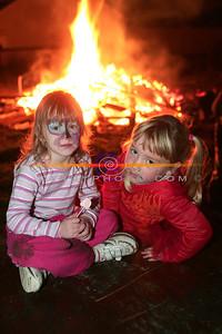 Bryony Kelly  (5) and Mycheala Lyons (4) from Ashgrove Estate Listowel enjoying the Bonfire  on Halloween Night. Pic Brendan Landy