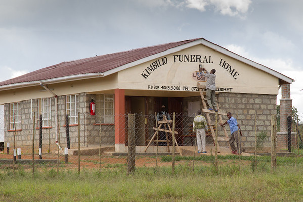 The new Kimbilio Funeral Home, another Living Room economic development project.