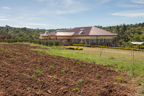 The Living Room facility with potato field in the foreground, Kipkaren, Kenya.