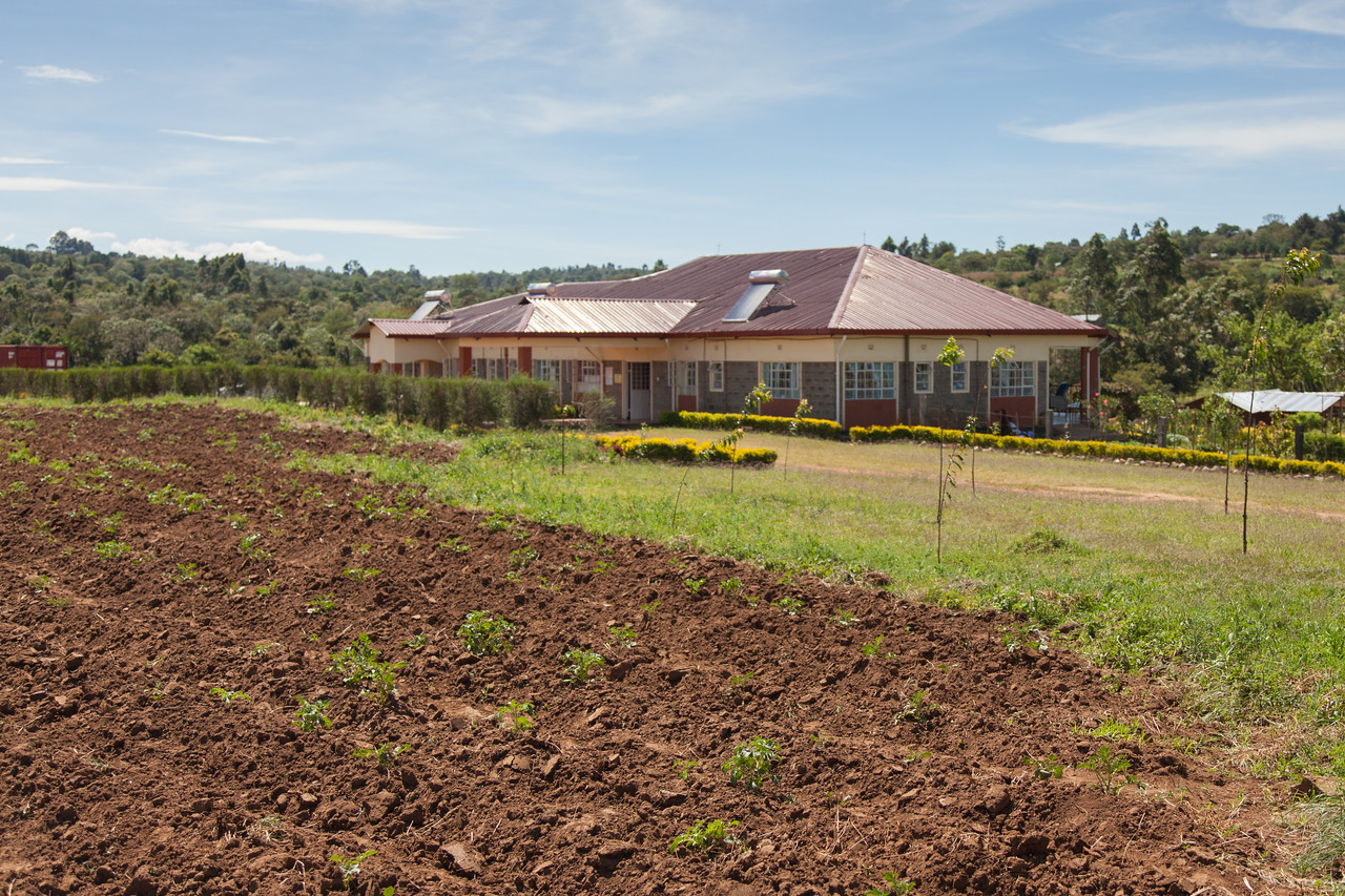 The Living Room Facility With Potato Field In Foreground Kipkaren Kenya