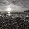06/01/2014 – 15:59 Poco prima del tramonto allo scoglio Asseu nel Golfo di Riva Trigoso, Sestri Levante, Liguria, Genoa Italy